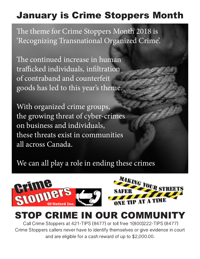 Crimestoppers Month of 2018